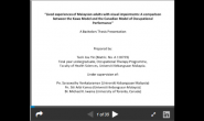 Lived Experiences of Malaysian Adults with Visual Impairments: A Comparative Study Between the Kawa Model and the Canadian Model of Occupational Performance (Teoh Jou Yin)