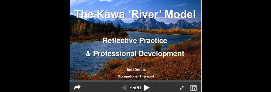 Using the Kawa Model in reflective practice (Beki Dellow)